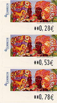 Stamps used in Spanish letter