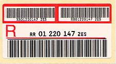 Los atms t rmicos las etiquetas de control for Oficina internacional de destino correos