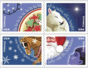 2017年圣诞节,当美国邮政亭发放饼干!