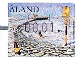 """2011年阿兰群岛发行的""""浮标""""电子邮票"""