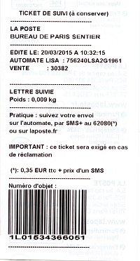 FRANCE La LETTRE SUIVIE
