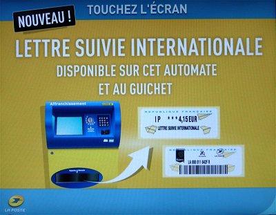 lettre internationale FRANCE. La LETTRE SUIVIE lettre internationale