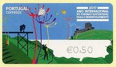 2017葡萄牙可持续旅游发展国际年电子邮票