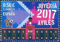 西班牙ES01和ES02智能AR邮亭的JUVENIA 2017电子邮票